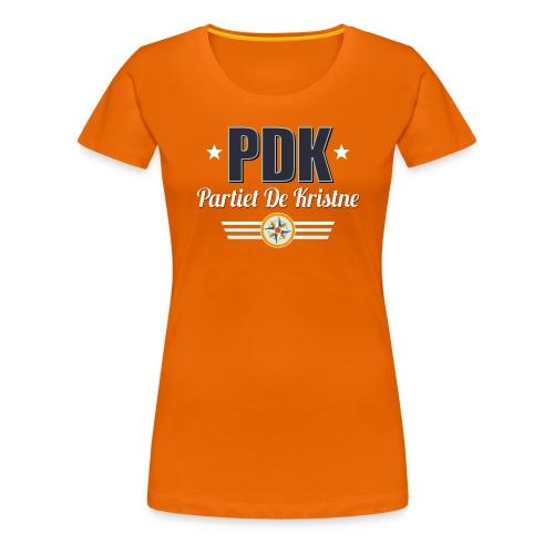 PDK på oransje - Premium T-skjorte for kvinner
