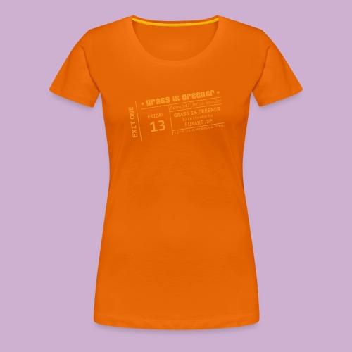 grass is greener - Frauen Premium T-Shirt
