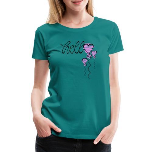 Hello Herzballon - Frauen Premium T-Shirt
