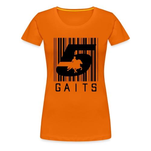 5gaitsBarcode 1 - Women's Premium T-Shirt