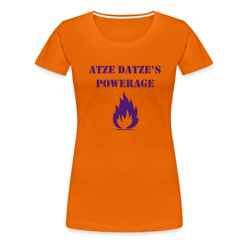 Atze Datze Logo - Frauen Premium T-Shirt