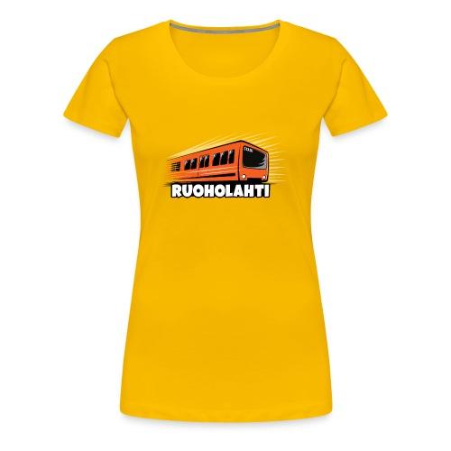 17 - METRO RUOHOLAHTI - HELSINKI - LAHJATAVARAT - Naisten premium t-paita