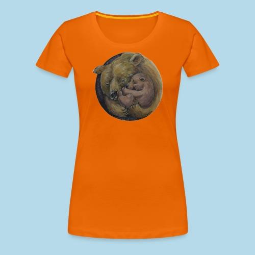 Bären-Mama mit Baby-Bär - Geborgenheit - Geschenk - Frauen Premium T-Shirt