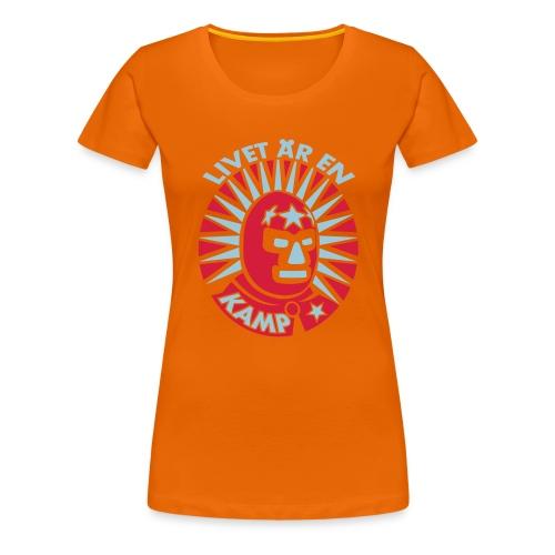 Livet är en kamp (2 tone) - Premium-T-shirt dam
