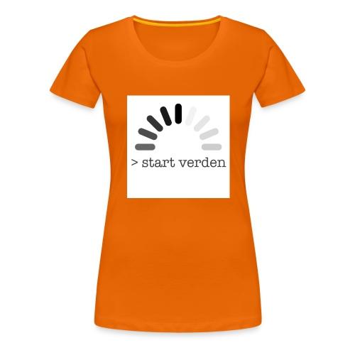 Start Verden - Premium T-skjorte for kvinner