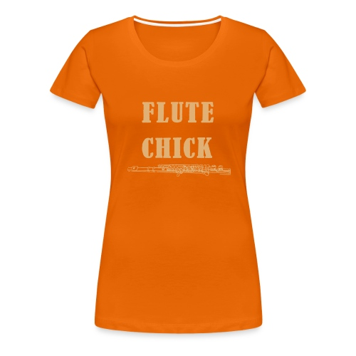 Flute Chick - Women's Premium T-Shirt
