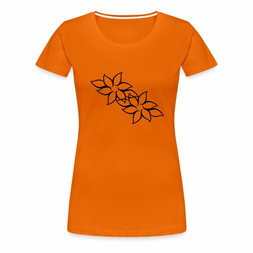 flowers - Dame premium T-shirt
