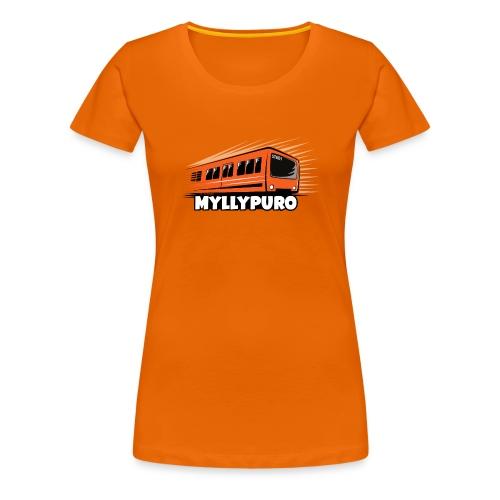 05 - METRO MYLLYPURO - HELSINKI - LAHJATUOTTEET - Naisten premium t-paita