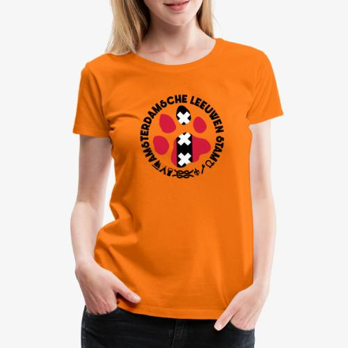 ALS witte cirkel lichtshi - Vrouwen Premium T-shirt