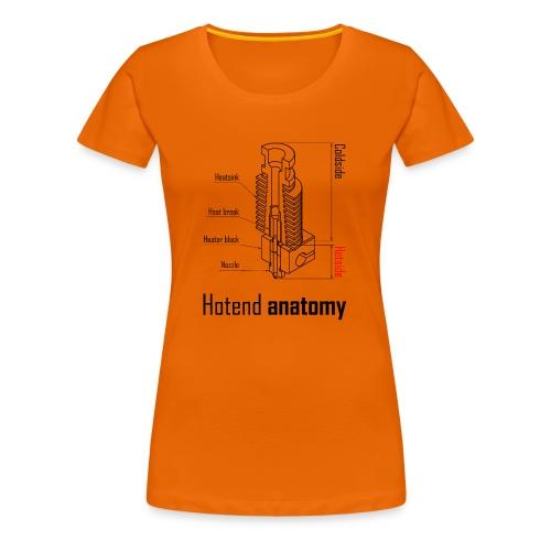 Hotend anatomy - Women's Premium T-Shirt