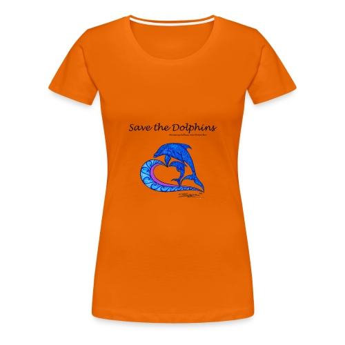 Save the Dolphins - Frauen Premium T-Shirt