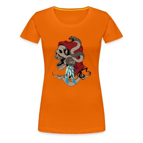 Calavera con serpiente - Camiseta premium mujer