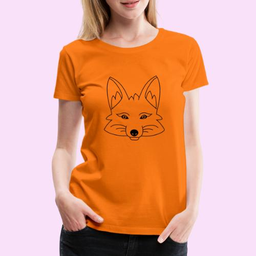Fuchs Gesicht - Frauen Premium T-Shirt
