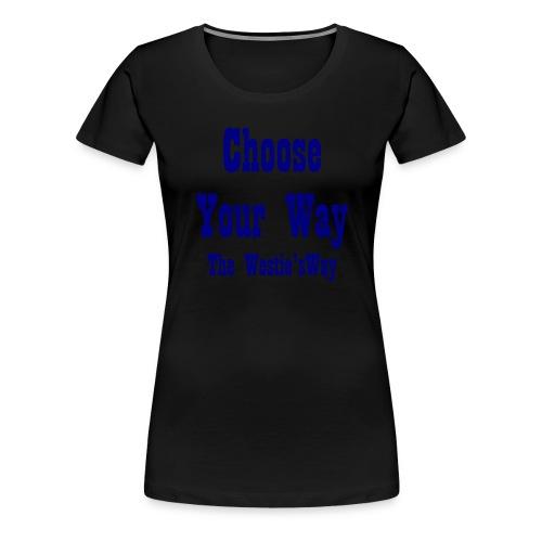 Choose Your Way Navy - Koszulka damska Premium