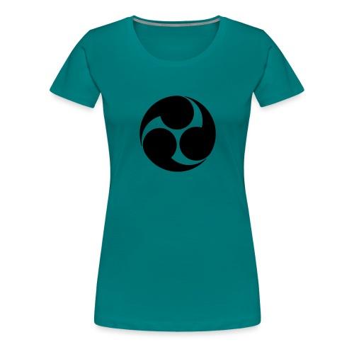 Kobayakawa Mon Japanese clan black - Women's Premium T-Shirt