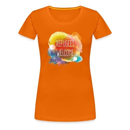 Refugees Welcome - Camiseta premium mujer