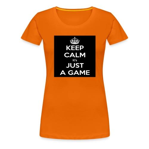 Det är bara ett spel - Premium-T-shirt dam