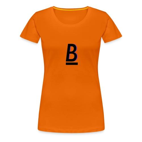 B - Premium T-skjorte for kvinner