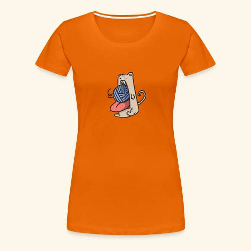 the eat-all-you-can cat - Women's Premium T-Shirt