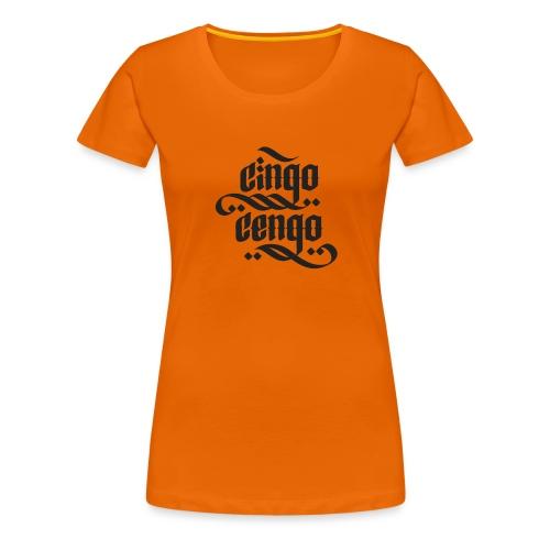 Logo CingoCengo BLACK - Frauen Premium T-Shirt