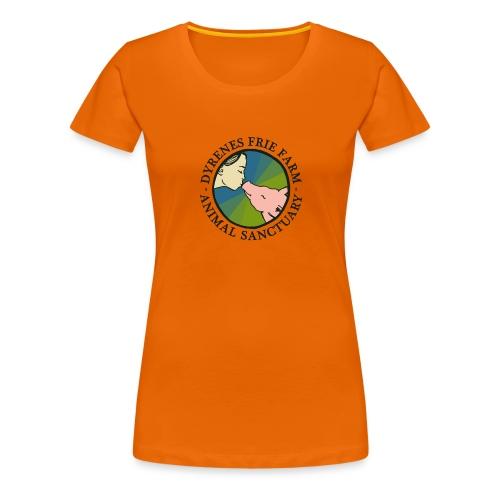 Dyrenes Frie Farm Logo - Dame premium T-shirt
