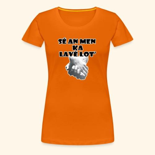 an men ka lave lot noir - T-shirt Premium Femme