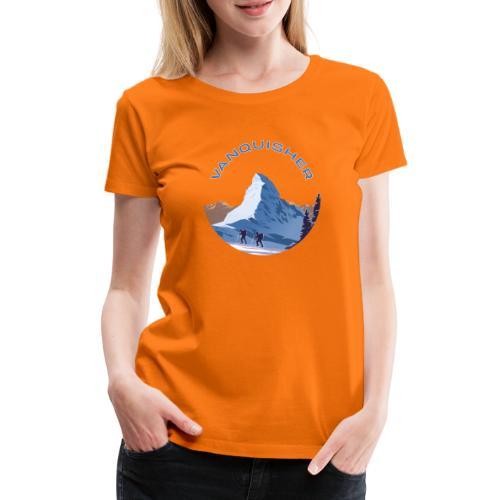 Vanquisher Matterhorn Schweiz Alpinist - Frauen Premium T-Shirt