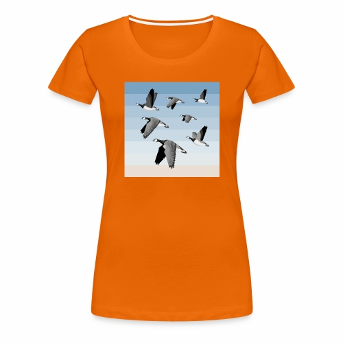 Barnacle goose flock - Women's Premium T-Shirt