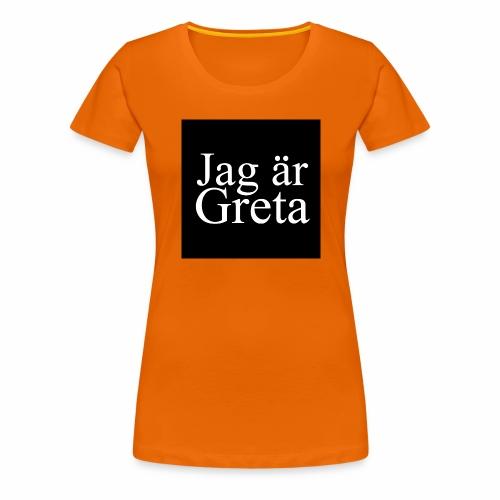 Button Greta - Frauen Premium T-Shirt