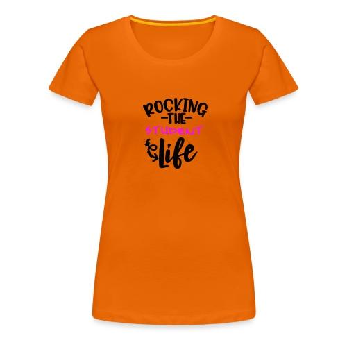 Rocking the student life #girl - Frauen Premium T-Shirt