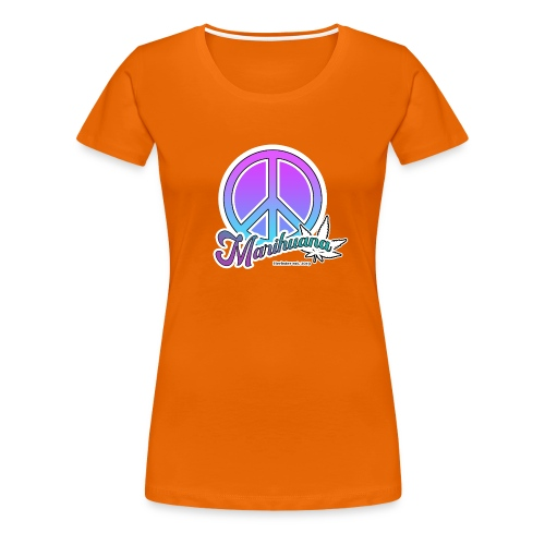 Peace and leafes - Frauen Premium T-Shirt