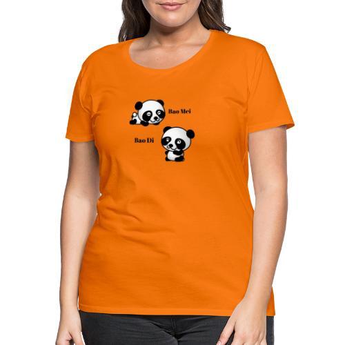 Bao Di Bao mei les petits pandas - T-shirt Premium Femme