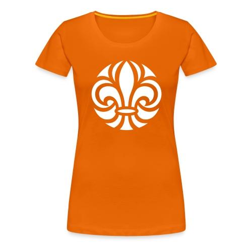 Scouterna-symbol_white - Premium-T-shirt dam