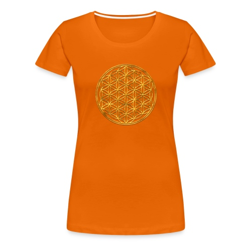 Flower of life GOLD 2 - Vrouwen Premium T-shirt