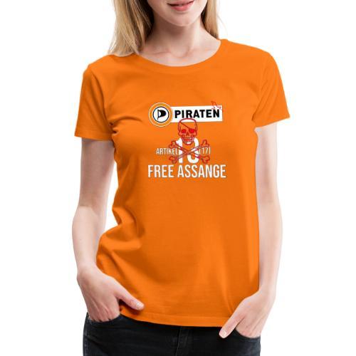 free assange farblos - Frauen Premium T-Shirt