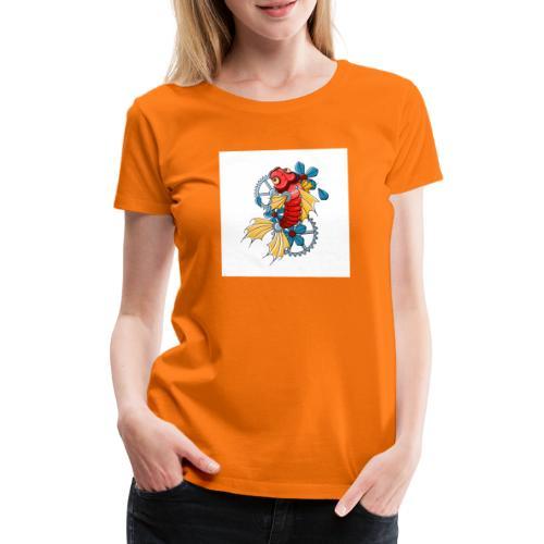 logo carpe mecanique - T-shirt Premium Femme