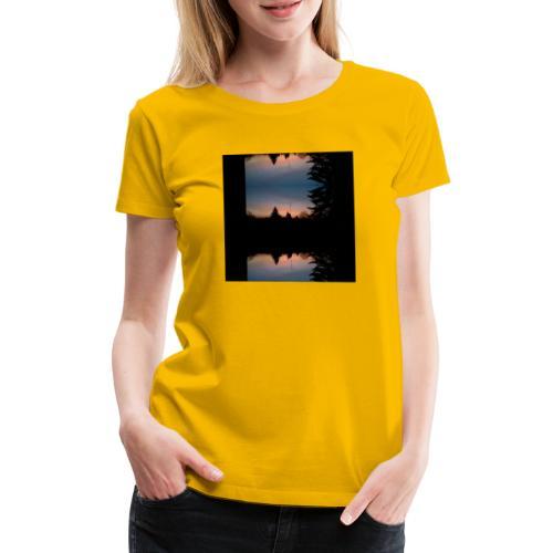 Sonnenhorizont Spiegelung Heller - Frauen Premium T-Shirt