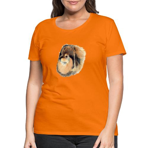pomeranian 1 - Dame premium T-shirt