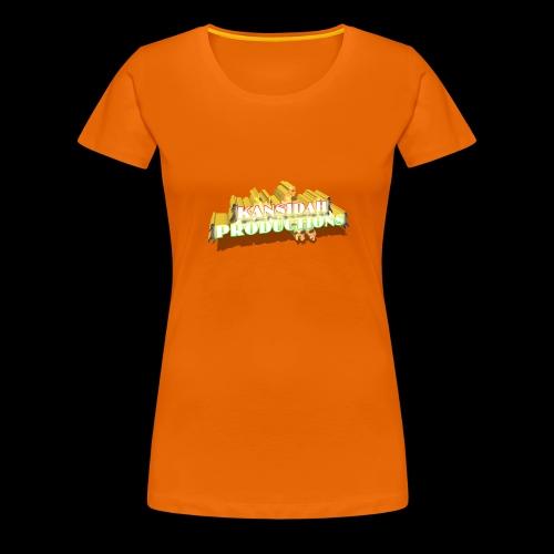 Kansidah Productions 3D Logo / Emblem - Frauen Premium T-Shirt