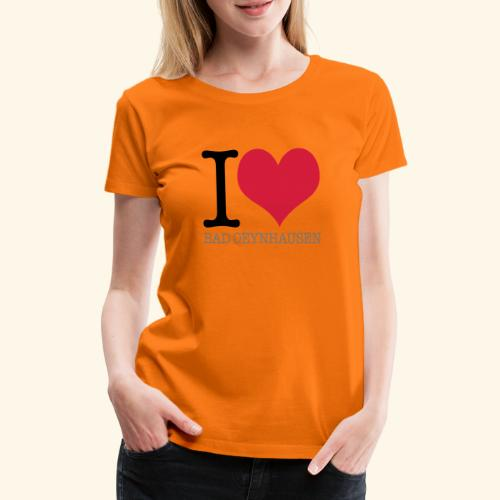 Love is in the Kurstadt - Frauen Premium T-Shirt