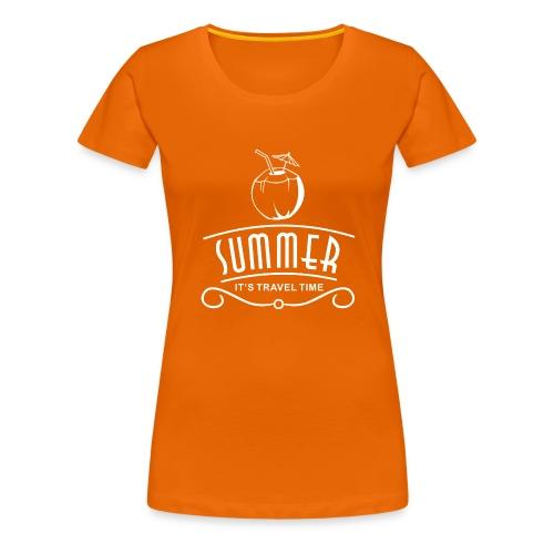 Sommer-Reisezeit - Frauen Premium T-Shirt