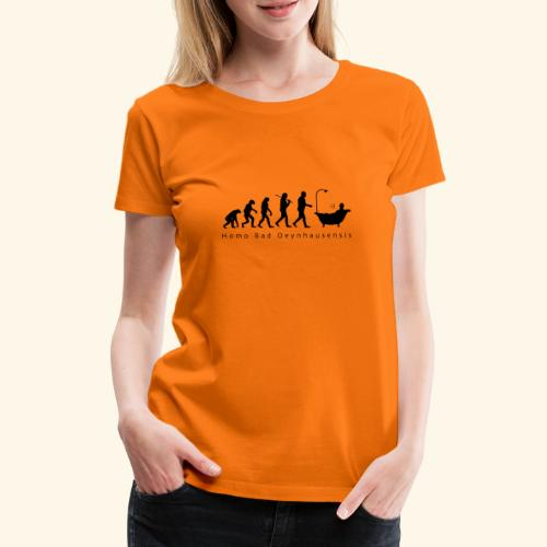 Die Evolution des Bademeisters - Frauen Premium T-Shirt