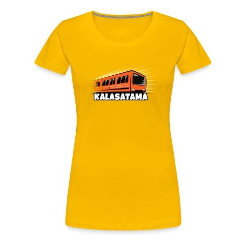 11- METRO KALASATAMA - HELSINKI - LAHJATUOTTEET - Naisten premium t-paita