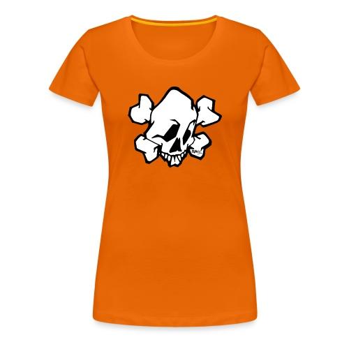 skull white ver01 fresh 86 - Dame premium T-shirt