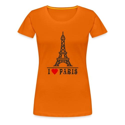 Paris - Naisten premium t-paita