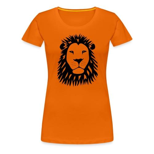 löwe tiger lion katze räuber raubtier beute afrika - Frauen Premium T-Shirt