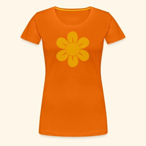 Retro Blomst - Dame premium T-shirt