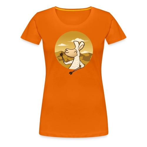 Waving Llama - Dame premium T-shirt