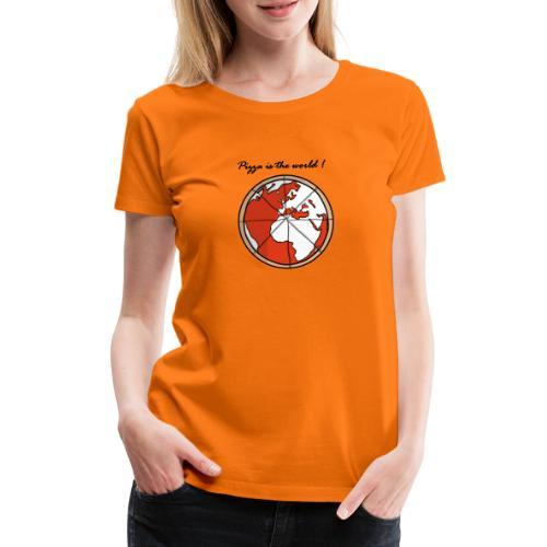 Mondo a forma di pizza - Maglietta Premium da donna