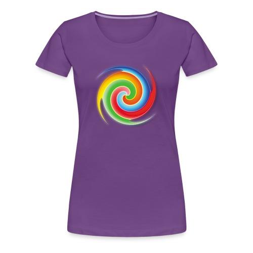deisold rainbow Spiral - Frauen Premium T-Shirt